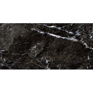 Керамогранит Simbel-carbon 1200х600х10 мрамор черно-белый
