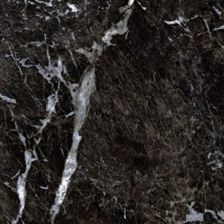 Керамогранит Simbel-carbon 600х600х10 мрамор черно-белый