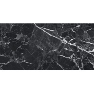 Керамогранит Simbel-pitch 1200х600х10 мрамор черно-серый